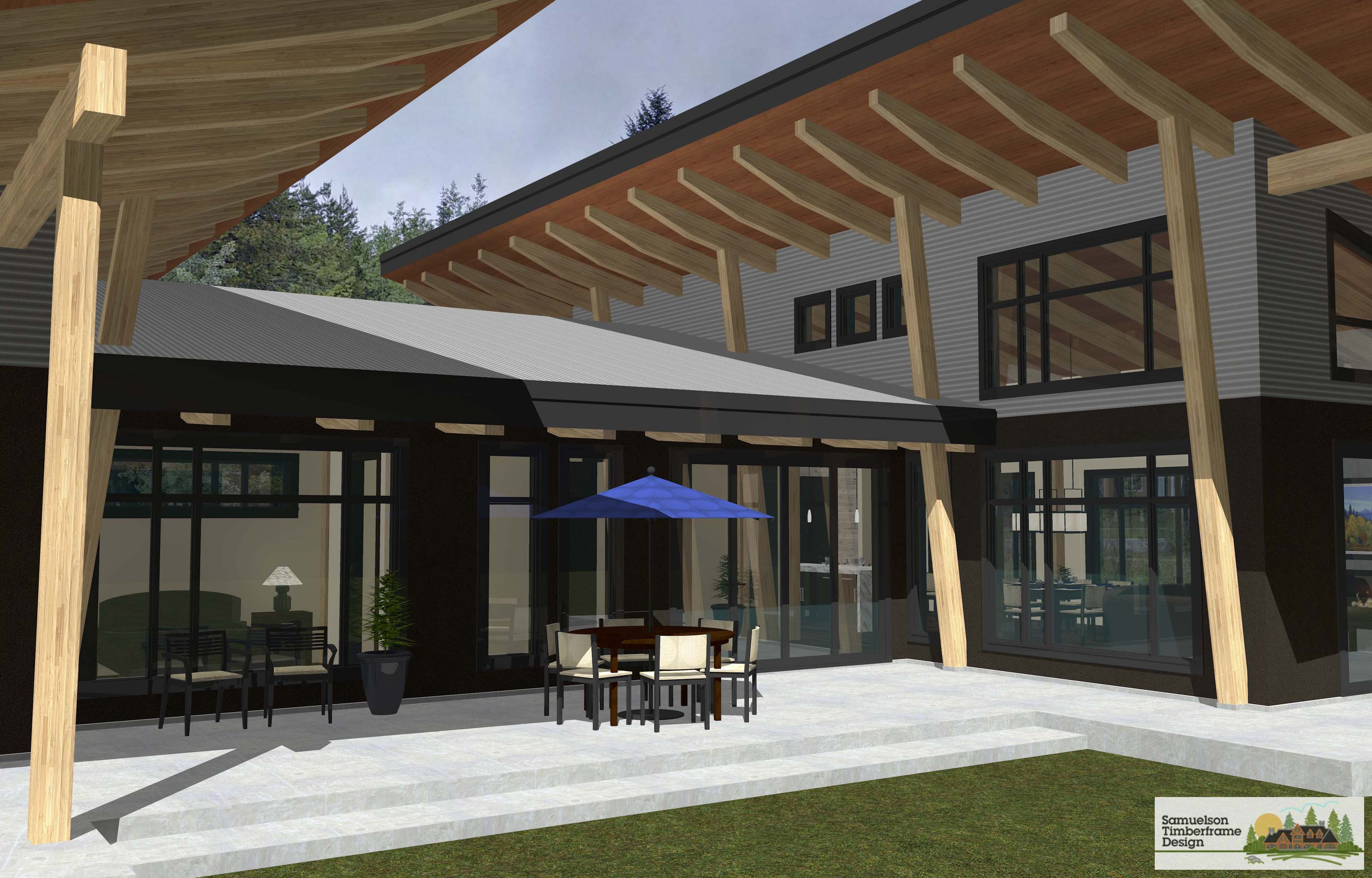 Samuelson Timberframe Design - West Coast Contemporary Timberframe Mountain Modern