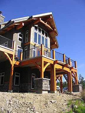 Samuelson Timberframe Design - modern design timber frame architecture