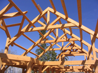 Samuelson Timberframe Design - timber frame purlins