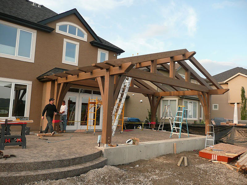 Outdoor Living Room timber frame