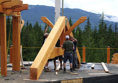 Samuelson Timberframe Design - timber trusses