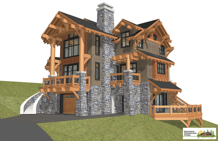 Samuelson Timberframe Design - California Timber Frame