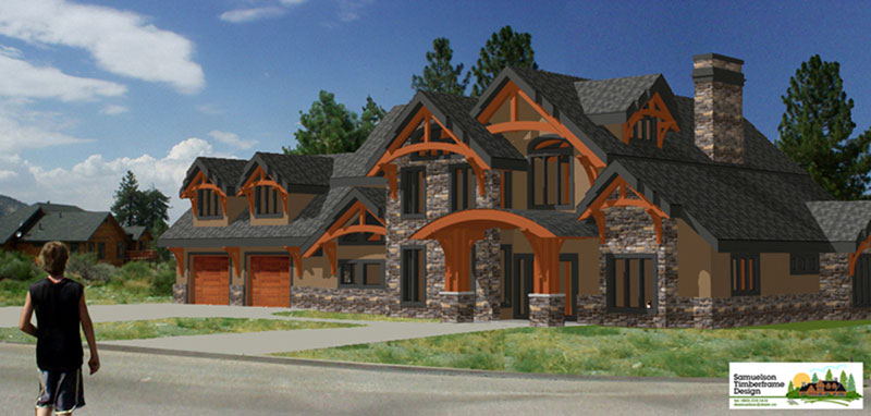 arts & crafts timber frame for California