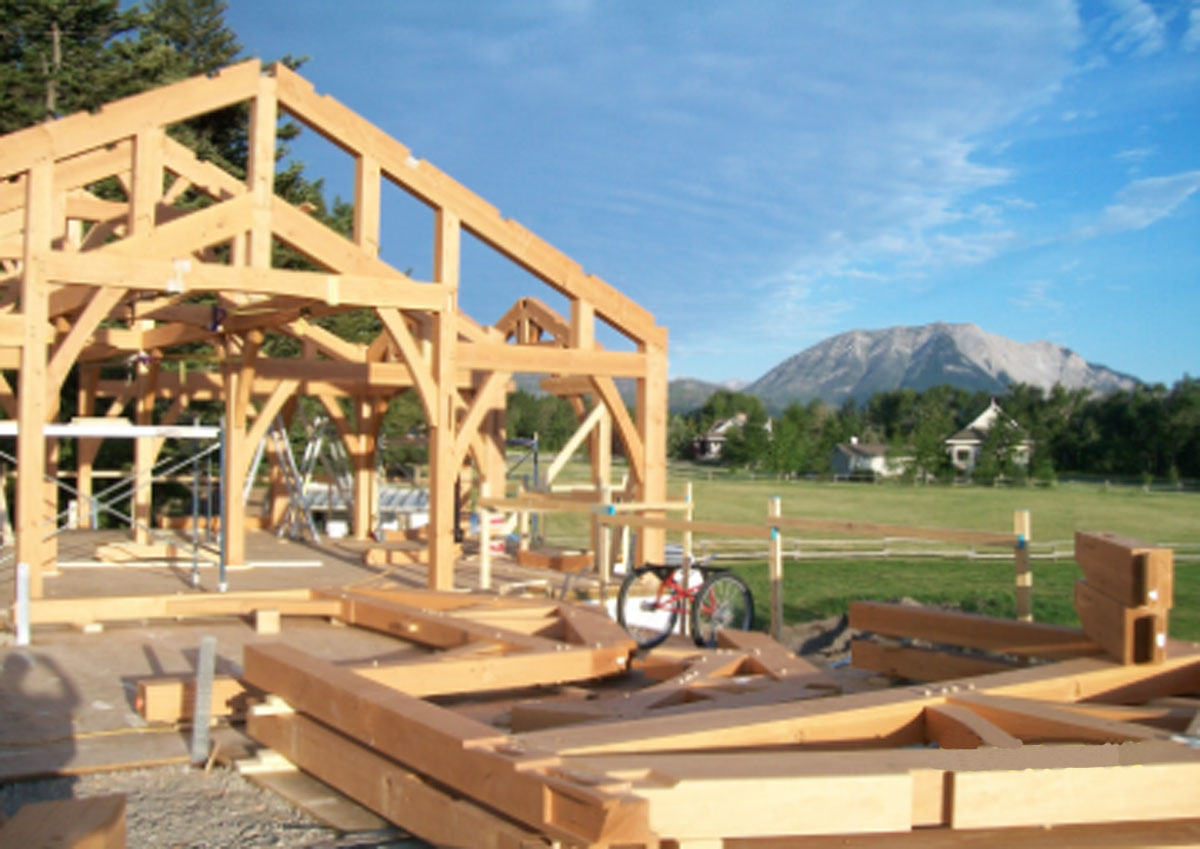 Samuelson Timberframe Design - Calgary Ranch Style Timber Frame Homes