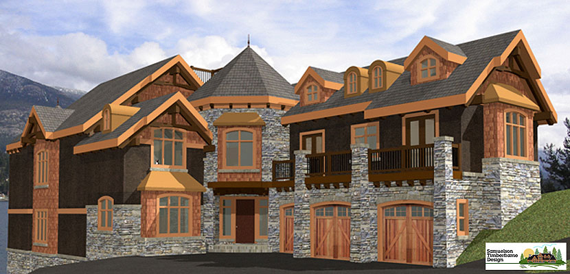Samuelson Timberframe Design - French Country Timber Frame