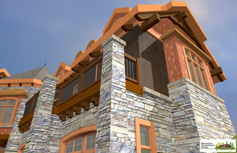 Samuelson Timberframe Design - French Country Timberframe