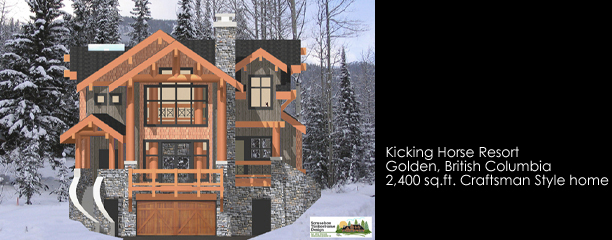 Samuelson Timberframe Design - Golden kicking horse resort timberframe design