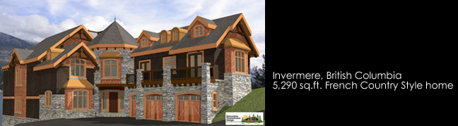 Samuelson Timberframe Design - Invermere BC French Country Style