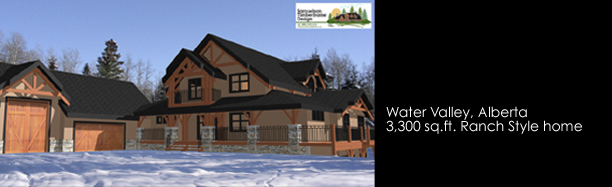 Samuelson Timberframe Design - Calgary, Alberta ranch style timber frame