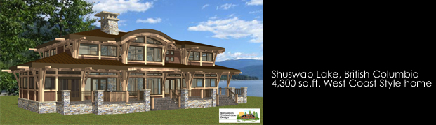 Samuelson Timberframe Design - Okanagan BC West Coast Style Timberframe home design
