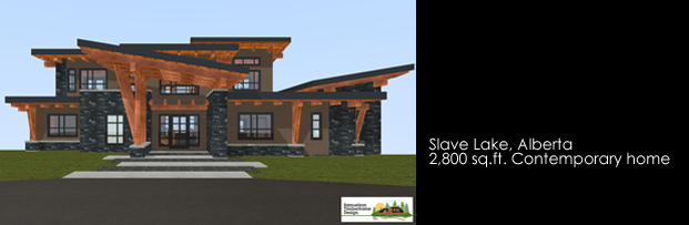 Samuelson Timberframe Design - Slave Lake Alberta West Coast Contemporary Style Timberframe home design