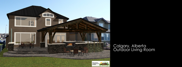 Samuelson Timberframe Design - Calgary, Alberta Outdoor Living Room Timber Frame