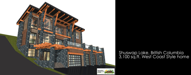 Samuelson Timberframe Design - Shuswap British Columbia West Coast Contemporary Style Timberframe home design