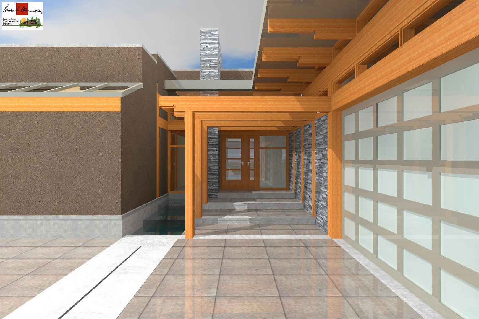 Brian Hemingway West Coast Contemporary Architect Samuelson Timberframe Design 3D Rendering