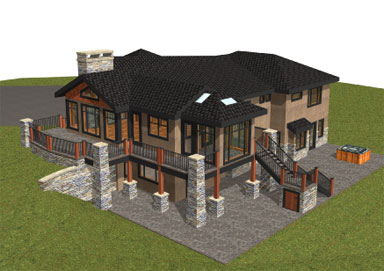 Samuelson Timberframe Design - Timberframe perspective views