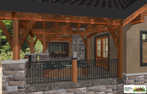 Samuelson Timberframe Design - outdoor living areas