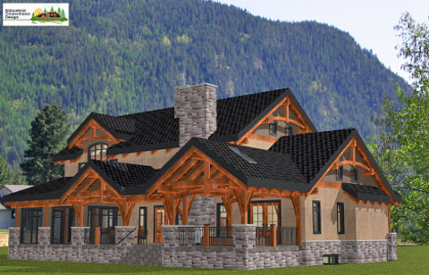 Samuelson Timberframe Design - West Kootenay timber frame