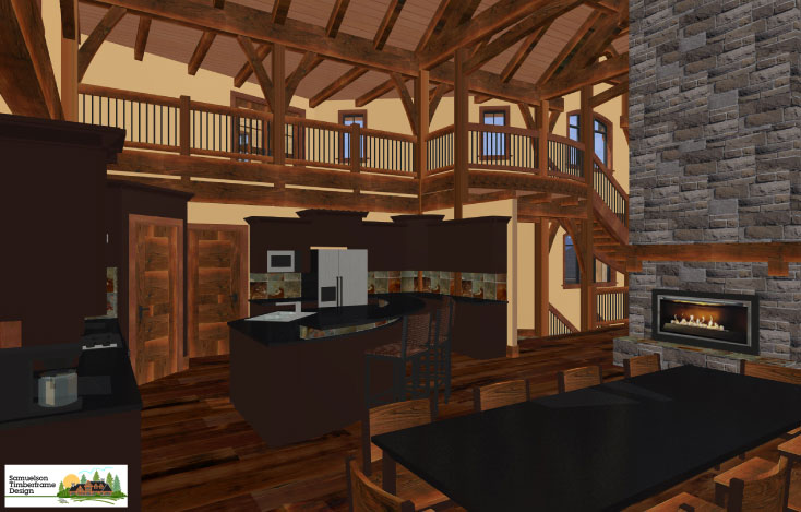 Samuelson Timberframe Design - timber frame interiors