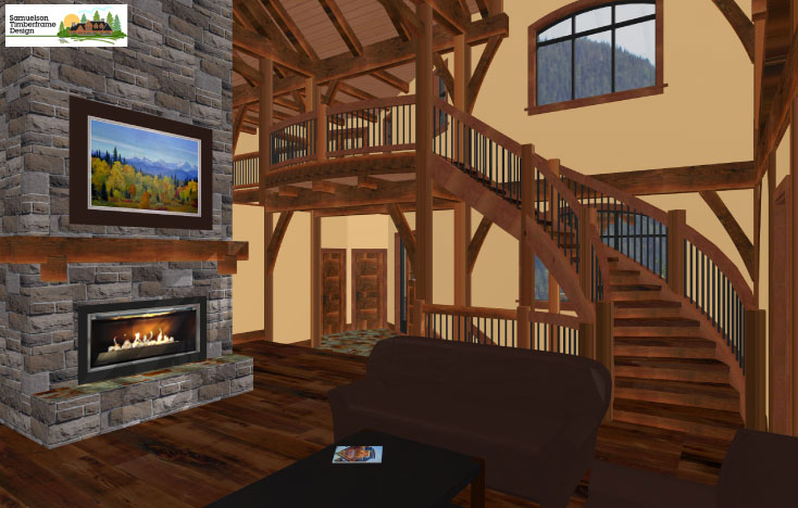 Samuelson Timberframe Design - timber frame homes interior design