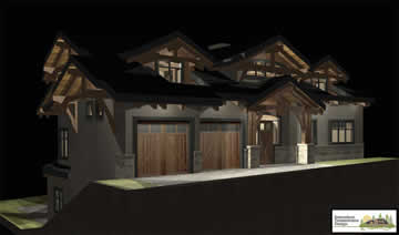 Samuelson Timberframe Design - night rendering